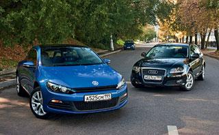 Тест-драйв Volkswagen Scirocco, Audi A3