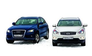 Volvo XC60, Mercedes GLK 350, Audi Q5, Infiniti EX35