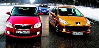 Тест-драйв Peugeot 207, Chevrolet Aveo, Skoda Fabia