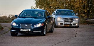 Тест-драйв Chrysler 300C, Jaguar XF