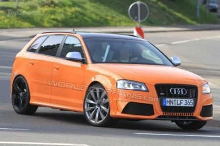 Шпионское фото Audi RS3 2012 года