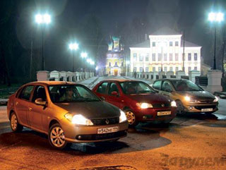 Тест-драйв Peugeot 206 Sedan, Fiat Albea, Renault Symbol