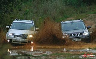 Тест-драйв Nissan X-Trail, Subaru Forester