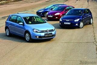 Тест-драйв Fiat Bravo, Hyundai i30, Peugeot 308, Volkswagen Golf