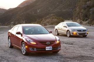 Тест-драйв Mazda 6, Volkswagen CC