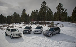 Тест-драйв Lexus RX 450h, BMW X5, Mercedes ML320, Volkswagen Touareg