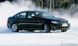 БМВ-325Xi склонен к внешним эффектам: угол заноса максимален, но скорости отнюдь не рекордные.