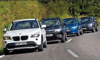 Тест-драйв BMW X1, Subaru Forester, Toyota RAV4, VW Tiguan