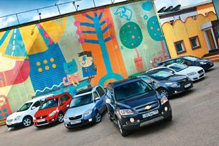 Тест-драйв Toyota Avensis, Suzuki SX4, Volvo V50, Chevrolet Captiva, Nissan Qashqai +2, Skoda Roomster, Opel Zafira