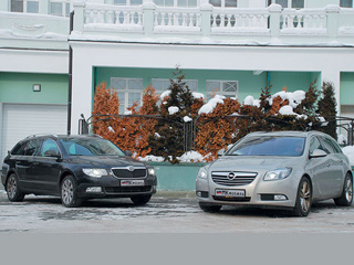 Тест-драйв Opel Insignia, Skoda Superb