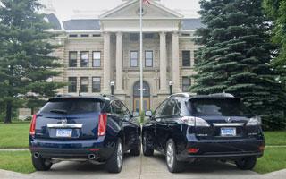 Тест-драйв Cadillac SRX, Lexus RX 350