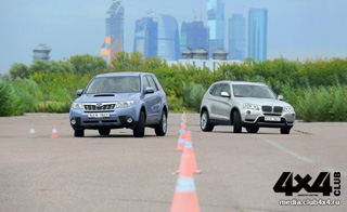Тест-драйв BMW X3, Subaru Forester