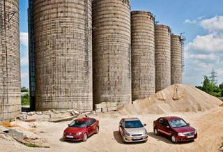 Тест-драйв VW Polo Sedan, Hyundai Solaris, Renault Logan