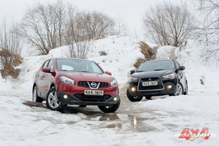 Тест-драйв Nissan Qashqai, Mitsubishi ASX