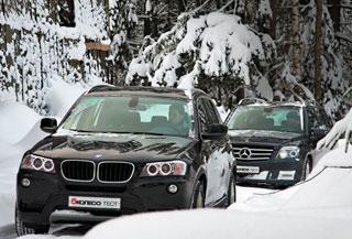 Тест-драйв BMW X3, Mercedes GLK