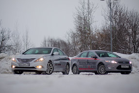 Тест-драйв Ford Mondeo, Hyundai Sonata