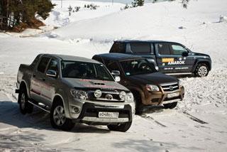 Тест-драйв Volkswagen Amarok VS Toyota Hilux VS Mazda BT-50