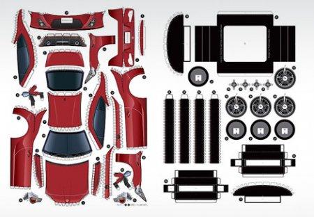 купе GT 86 из бумаги