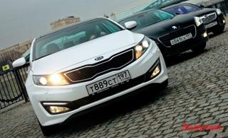 Тест-драйв Opel Insignia, Kia Optima, Peugeot 508