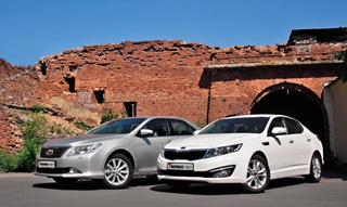 Тест-драйв KIA Optima, Toyota Camry