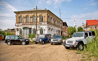 Тест-драйв Jeep Wrangler, Land Rover Defender 110, Land Rover Discovery 4, Jeep Grand Cherokee