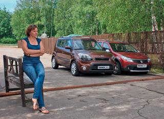 Тест-драйв KIA Soul, Renault Sandero Stepway