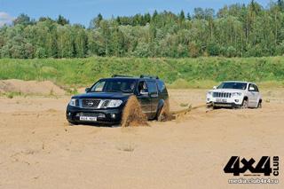 Тест-драйв Jeep Grand Cherokee, Nissan Pathfinder