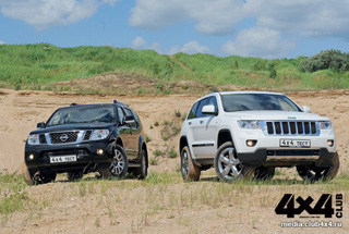 Тест-драйв Jeep Grand Cherokee, Nissan Pathfinder