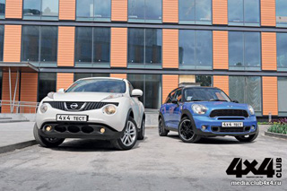 Тест-драйв Nissan Juke, Mini Countryman