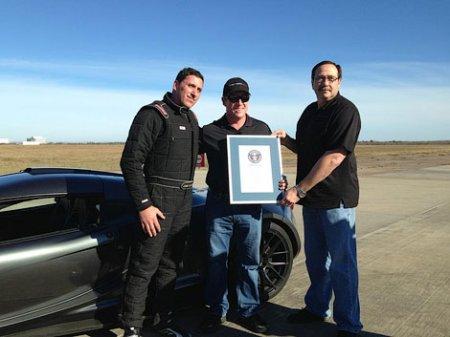 Американский суперкар Hennessey Venom GT попал в Книгу рекордов Гиннесса